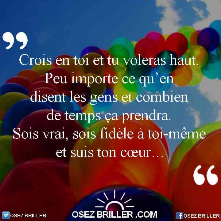 Citation croire en soi, proverbe confiance en soi, citation motivante, citation motivation, citation positive, pensée positive, proverbe motivant, pensée croire en soi