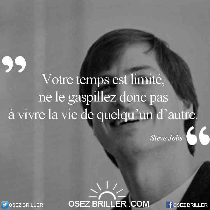 Rupture conventionnelle refusée, citation steve jobs, citation gaspiller son temps, citation vivre sa vie, citation stevejobs, Citation destin, citation sur le destin, citation choix, citation faire des choix, Citation quitter son travail, quitter son travail, quitter son job, quitter son emploi, citation reconversion professionnelle, citation changer de vie, citation confiance en soi, citation la solution est en vous, citation osez briller, citation faire ce que l'on veut, citation se reconvertir, citation trouver sa voie, citation pour aller mieux, la solution est en vous, citation vie professionnelle, citation changer de travail, citation pour quitter son job